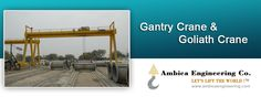 If your are wondering how to get in touch with a reliable #crane_manufacturers, then you should try to look Ambica Engineering. Ambica Engineering is known for their quality work and their quality products.