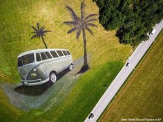 Grass Murals and Land Art by Artist Saype on If It's Hip, It's Here Land Art, Funny Photos, Cool Photos, Simply Image, Volkswagen, Montage Photo, Vacation Trips, Vacation Travel, Global Design