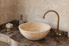 Bathroom Collection Sink | Zurich Classic Travertine Sink (DLT 618)
