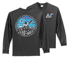 Delta Gamma Whimsical Mountains Sisterhood Retreat // College Hill Custom Threads