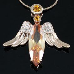 ANGEL 18K ROSE GOLD PLATED PENDANT NECKLACE