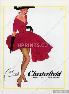 Chesterfield (Stockings) 1953 Haute Couture Stockings Hosiery