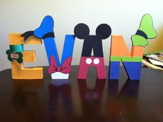Mickey & Friends Letters