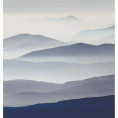 Morning Mist Wallpanel - Casadeco So Wall 2 Collection Watercolor Landscape, Abstract Landscape, Landscape Paintings, Amazing Photography, Landscape Photography, Nature Photography, Photography Magazine, Scenery Pictures, Cool Pictures