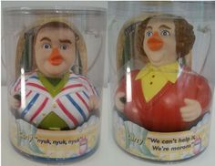 Lot of 2 Three Stooges Celebriducks Larry Curly New in Package Rubber Ducks | eBay