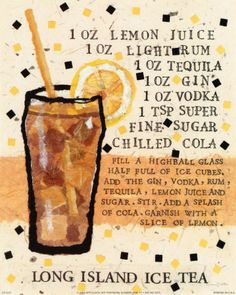 Recipe for Long Island Ice Tea