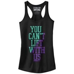 Mean Girls You Can't Lift With Us Juniors Graphic Racerback Tank, Girl's, Size: Medium, Black