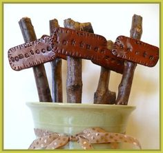 rustic plant markers