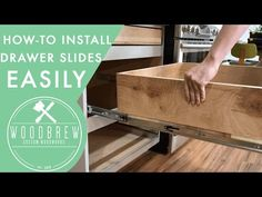 How To Install Cabinet Drawers Slides | Woodbrew - YouTube
