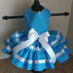 How cute!! Check it out here! #Itsadogthing http://www.barklabel.com/products/aqua-white-polka-dots-and-trim-dog-dress?utm_campaign=social_autopilot&utm_source=pin&utm_medium=pin www.barklabel.com
