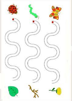 Printable Activities Graphomotor basic lines. http://www.preschoolactivities.pequescuela.com/activities-preschool-print-strokes7.html