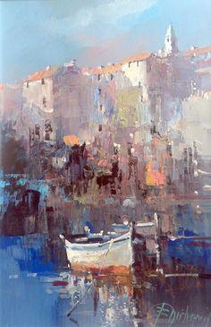 Branko Dimitrijevic, Boat, Oil on canvas, 30x20cm                                                                                                                                                                                 More