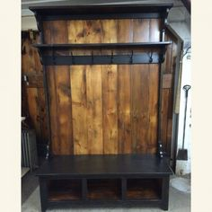Plank Backing & Shelf Hall Tree | Furniture From The Barn