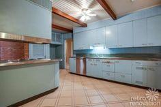 Price: $125,000 -- 1954 Texas time capsule house — original cork floors, gorgeous brick work & more — 26 photos