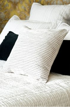 Cushion Eurocase LOUISE Linen Quilt // Duvet Cover Set SINGLE DOUBLE QUEEN