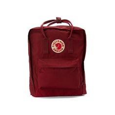 Fjallraven Kanken ($75) ❤ liked on Polyvore featuring bags, backpacks, ox red, fjällräven, fjallraven backpack, day pack backpack, red laptop bag and fjallraven rucksack