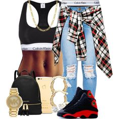 A fashion look from September 2015 by trill-forlife featuring Calvin Klein Underwear, MICHAEL Michael Kors, Auriya, Michael Kors, Fremada and NIKE