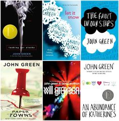John Green Books are my fav. Looking For Alaska, Let it Snow, The Fault in Our Stars, Paper Towns, Will Grayson Will Grayson, & An Abundance of Katherines are all aMaZiNg!!