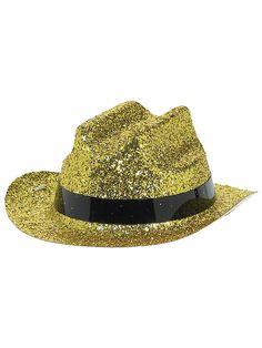 Halloween Glitter Gold Mini Hat