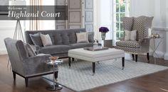 Highland Court I Duralee Custom Furniture, Luxury Furniture, Outdoor Furniture Sets, Furniture Design, Living Room Designs, Living Spaces, Living Rooms, Interior Design, Gorgeous Fabrics