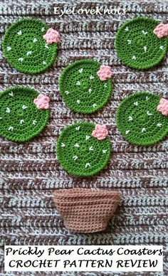 Prickly Pear Cactus Coasters – Crochet Pattern Review Crochet Gifts 6dabcacf9b