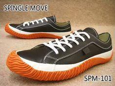 スピングルムーブ SPM-101 靴 BLACK/ORANGE / SPINGLE MOVE メンズスニーカー ブラック/オレンジ スピングルムーヴ ローカット メイドインジャパン