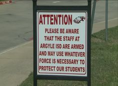 Texas School District's Sign Is Almost Sure to Irk the Left: 'Please Be Aware That the Staff at Argyle ISD Are…' | TheBlaze.com