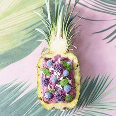 Blåbärssmoothie med ananas och banan