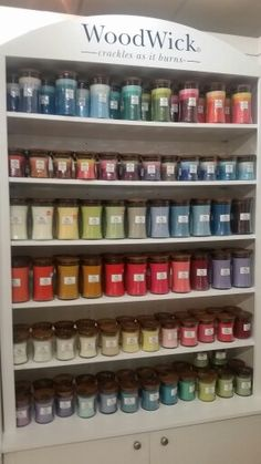 Woodwick Candles - different sizes, different colours, different smells! Crackle while they burn! - Shrewsbury store, Homewares