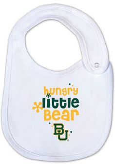 #Baylor University 'Hungry Little Bear' Infant Velcro Bib