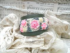 vintage celluloid bracelet cuff shabby chic by lilyofthevally