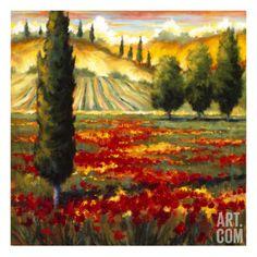 Tuscany in Bloom II Giclee Print by J.m. Steele at Art.com