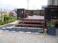 CONTRAST stained deck...meldy's backyard landscape - contemporary - landscape - other metro - MELDS home staging.
