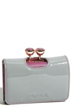 patent leather bobble wallet