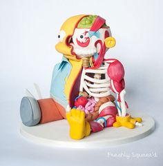 Ralph Wiggum Anatomy Cake by Kylie Mangles (based on an illustration by Eric Flores)