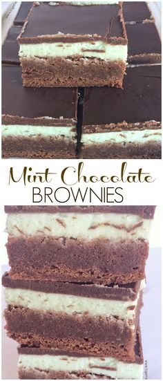Mint Chocolate Brownies - Together as Family (Chocolate Mint Cookies) Chocolate Topping, Semi Sweet Chocolate Chips, Mint Chocolate, Brownie Toppings, Brownie Bar, Brownie Recipes, Fudgy Brownies, Chocolate Brownies, Chocolate Cookies