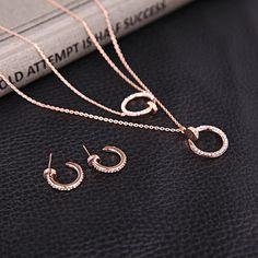 #Rhinestone #Tassel #Necklace #EarringsSet
