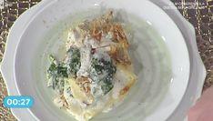 Tra le ricette La prova del cuoco per la Befana la ricetta delle lasagne con carciofi e spinaci di Mauro Improta oggi 5 gennaio 2018
