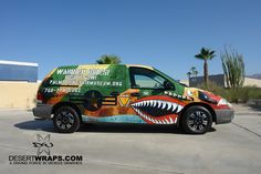 Palm Springs Air Museum located in Palm Springs, CA opted for a custom designed van wrap installed by DesertWraps.com. Contact DesertWraps.com at 760-935-3600.  DesertWraps.com services vehicles from Palm Springs, Cathedral City, Rancho Mirage, Palm Desert, Indian Wells, Bermuda Dunes, Indio and the whole Coachella Valley.   #VanWrap #VehicleWrap #Branding #Advertising