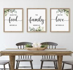 Dinning Room Wall Decor, Sitting Room Decor, Farmhouse Wall Decor, Dining Room Walls, Wall Art Decor, Dining Room Quotes, Wall Decor Quotes, Farmhouse Signs, Wall Decorations