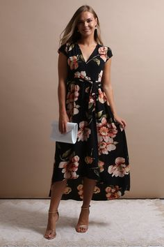 4a11a060062 Gotta love this gorgeous floral maxi dress! Love the black flower print  pattern