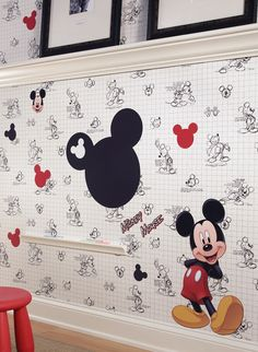 Mickey Mouse Bedroom Decor Beautiful Mickey Mouse Wallpaper Disney Home Decor Mickey Mouse Bathroom, Mickey Mouse Sketch, Mickey Mouse House, Mickey Mouse And Friends, Minnie Mouse, Mickey Bad, Mickey Love, Disney Micky Maus, Mickey E Minie