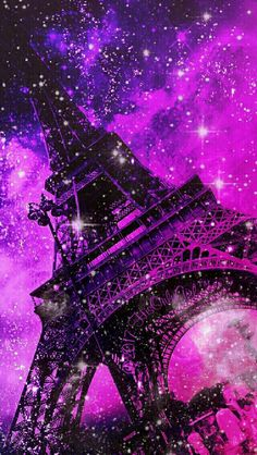 Eiffel Tower sunset galaxy iPhone/Android wallpaper I created for the app CocoPPa!