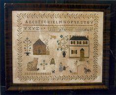 Primitive Folk Art Cross Stitch Pattern  SPRING by PrimFolkArtShop, $13.75