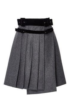 Pleated Wool A Line Skirt by CARVEN for Preorder on Moda Operandi