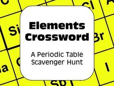 Periodic table of elements scavenger hunt puzzles complete bundle the periodic table student centered collaborative fun and engaging the complete set will become your go to activity an excellent lesson plan for urtaz Image collections