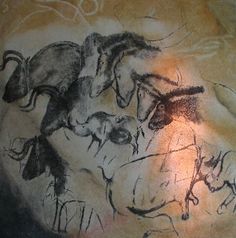 Stone Age cave paintings have been found in many caves in Europe, including Chauvet and Lascaux in France and Altamira in Spain. Chauvet Cave, Lascaux, Ancient Art, Ancient History, Art History, Alfons Mucha, Paleolithic Art, Paleolithic Period, Cave Drawings