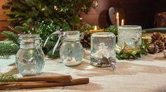 Ein schönes Mitbringsel und ein glänzendes Geschenk sind die selbst gemachten Schneekugeln.