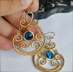 BLACK FRIDAY SALE Chandelier Earrings-Blue Bezel Set Earrings-Topaz-Ocean Blue-Beach-Bridesmaid Jewelry. $29.70, via Etsy.