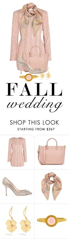 """Bride's Side!"" by shamrockclover ❤ liked on Polyvore featuring Balmain, Dolce&Gabbana, Roberto Cavalli and Aurélie Bidermann"